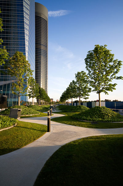 office park landscape